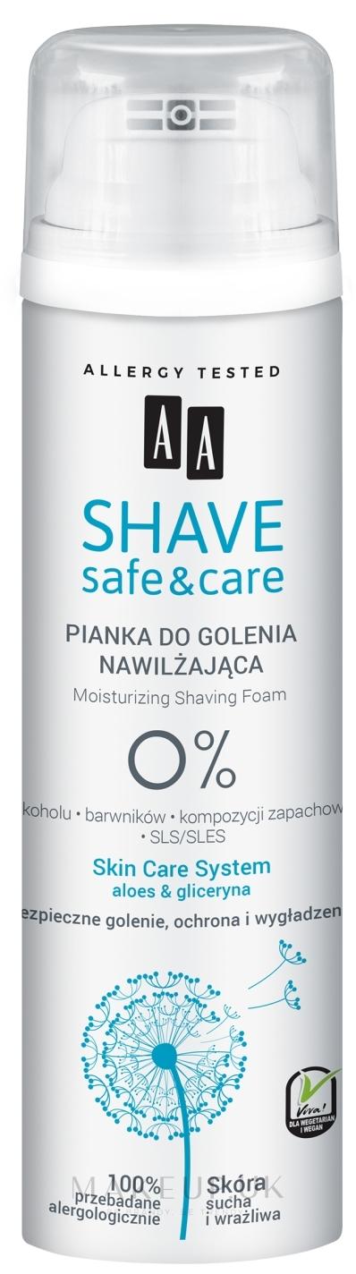 Moisturizing Shaving Foam - AA Shave Safe & Care — photo 250 ml