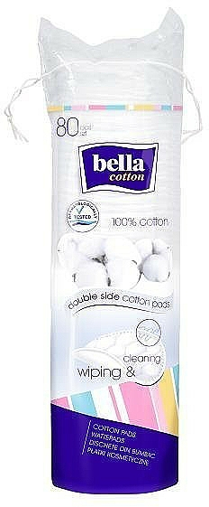 Cotton Pads, round, 80 pcs - Bella