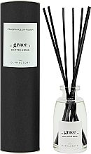 Fragrances, Perfumes, Cosmetics Reed Diffuser - Ambientair The Olphactory Black Grace Mint Tea & Basil