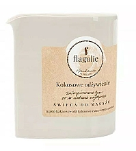 "Fragrances, Perfumes, Cosmetics Massage Candle ""Nourishing Coconut"" - Flagolie Coconut Nutrition Massage Candle"