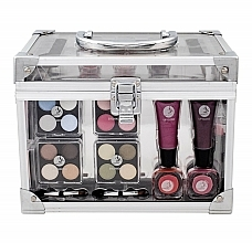 Fragrances, Perfumes, Cosmetics Makeup Set - Makeup Trading Crystal Beauty Train Case Transparent