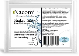 Fragrances, Perfumes, Cosmetics Alginate Face Mask with Hyaluronic Acid - Nacomi Shaker Mask