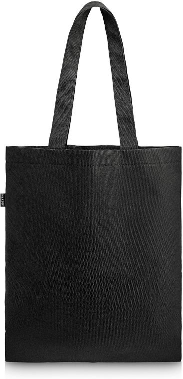 "Black Shopper Bag ""Perfect Style"" - MakeUp Eco Friendly Tote Bag Black"