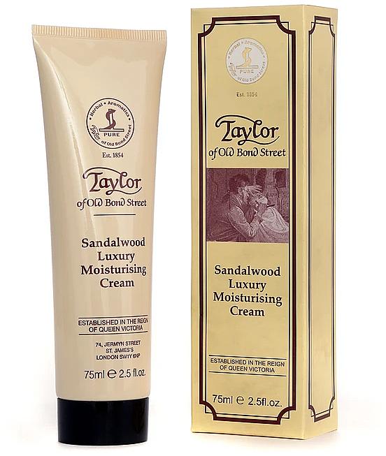 Moisturizing Cream 'Sandalwood' - Taylor of Old Bond Street Sandalwood Moisturising Cream