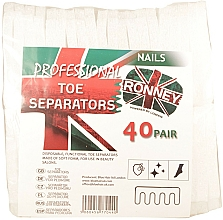 Fragrances, Perfumes, Cosmetics Toe Separator, 80 pcs - Ronney Professional Toe Separators