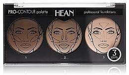 Fragrances, Perfumes, Cosmetics Face Contour Palette 3 Colors - Hean Pro-Countour Palette