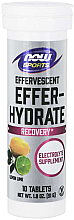 Fragrances, Perfumes, Cosmetics Lemon & Lime Electrolytes - Now Foods Effer-Hydrate Effervescent Lemon Lime