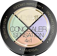 Fragrances, Perfumes, Cosmetics Correcting Palette - Eveline Cosmetics Concealer Sensation 4in1