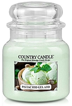 Fragrances, Perfumes, Cosmetics Scented Candle in Jar - Country Candle Pistachio Gelato
