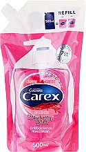 Fragrances, Perfumes, Cosmetics Antibacterial Liquid Soap - Carex Strawberry Candy (Refill)