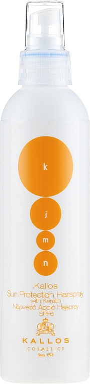Keratin Hair Spray - Kallos Cosmetics Sun Protection Hairspray With Keratin SPF6