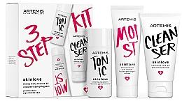 Fragrances, Perfumes, Cosmetics Set - Artemis of Switzerland Skinlove 3 Step Daily Routine Kit (face/gel/30ml+face/tonic/30ml+gel/cr/20ml)