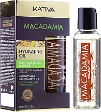 Fragrances, Perfumes, Cosmetics Hydrating Revitalizing Oil for Normal & Damaged Hair - Kativa Macadamia Hydrating Oil