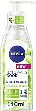 Fragrances, Perfumes, Cosmetics Cleansing Micellar Gel - Nivea Naturally Good Micellar Wash