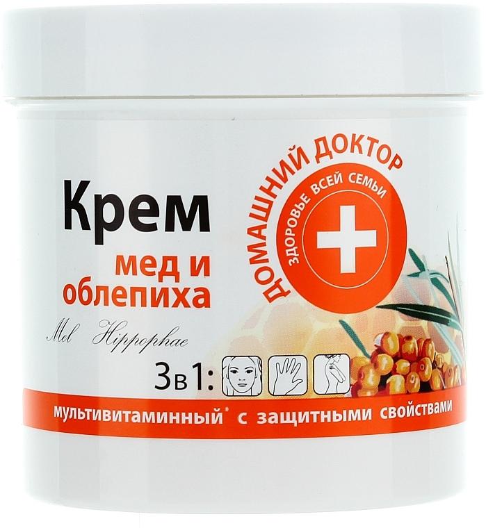 Skin Cream with Honey and Sea Buckthorn - Domashniy Doktor
