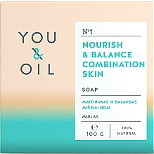Fragrances, Perfumes, Cosmetics Nourishing Soap for Combination Skin - You & Oil Nourish & Balance Combination Skin