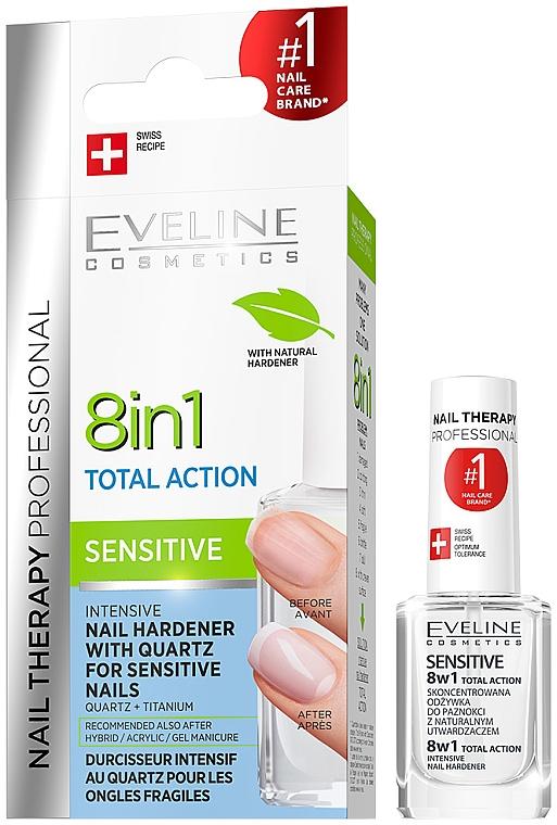 Universal Nail Polish - Eveline Cosmetics Nail Therapy Professional Sensitive