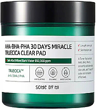 Fragrances, Perfumes, Cosmetics Acid Pads for Problem Skin - Some By Mi AHA BHA PHA 30 Days Miracle Truecica Clear Pad