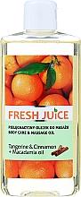 "Fragrances, Perfumes, Cosmetics Massage & Care Oil ""Tangerine & Cinnamon + Macadamia Oil"" - Fresh Juice Energy Tangerine&Cinnamon+Macadamia Oil"