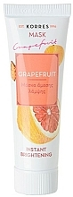 Fragrances, Perfumes, Cosmetics Brightening Grapefruit Mask - Korres Grapefruit Instant Brightening Mask