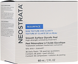 Fragrances, Perfumes, Cosmetics Daily Peeling - NeoStrata Resurface Smooth Surface Daily Peel (peel/60ml + pads/36pc)