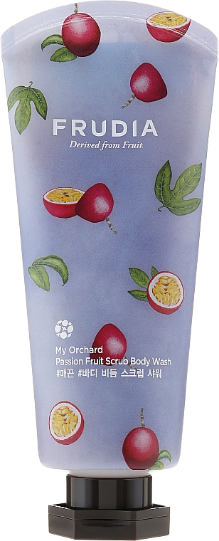 Passionfruit Scented Scrab Body Wash - Frudia My Orchard Passion Fruit Scrub Body Wash