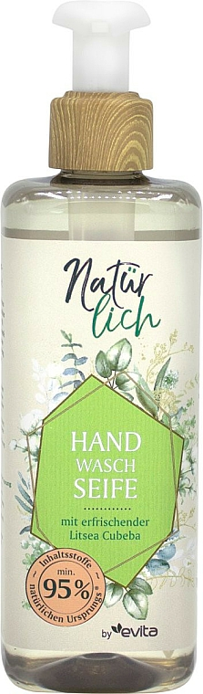 Hand Liquid Soap with Essential Oil - Evita Naturlich Eco Liquid Soap Litsea Cubea