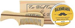 Fragrances, Perfumes, Cosmetics Set - Golden Beards Moustache Wax Kit + Comb (wax/15 ml + comb)