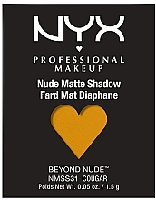 Fragrances, Perfumes, Cosmetics Matte Eyeshadow - NYX Professional Matte Shadow Beyond Nude