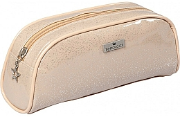 "Fragrances, Perfumes, Cosmetics Women Makeup Bag ""Glitter"", 97904, beige - Top Choice"