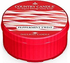 Fragrances, Perfumes, Cosmetics Tea Candle 'Peppermint Twist' - Country Candle Peppermint Twist Daylight
