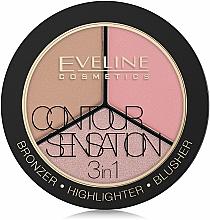 Fragrances, Perfumes, Cosmetics Face Sculpting Palette - Eveline Cosmetics Contour Sensation