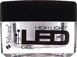 Fragrances, Perfumes, Cosmetics Nail Extension Gel - Silcare High Light LED Clear