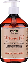 Fragrances, Perfumes, Cosmetics Massage Oil - Eco U Massage Oil Sweet Apricot & Peach Oil