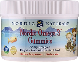 """Fragrances, Perfumes, Cosmetics Dietary Supplement with Mandarin Flavor """"Omega-3"""", 82 mg - Nordic Naturals Gummy"""