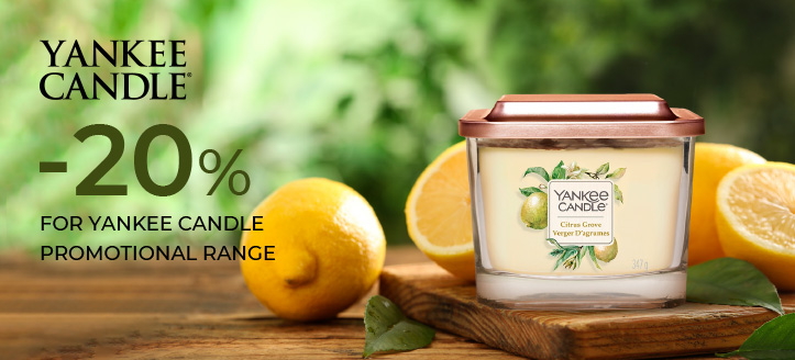 20% off Yankee Candle promotional range. Prices on the site already include a discount