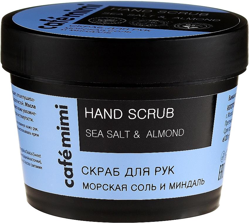 "Hand Scrub ""Sea Salt and Almond"" - Cafe Mimi Hand Scrub"