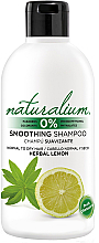 Fragrances, Perfumes, Cosmetics Smoothing Shampoo - Naturalium Herbal Lemon Smoothing Shampoo