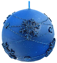 Fragrances, Perfumes, Cosmetics Decorative Candle, blue ball, 10 cm - Artman Snowflake Application