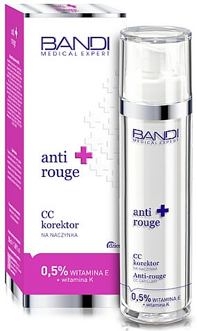 Anti-Couperose CC Cream with Vitamins E and K - Bandi Medical Expert Anti Rouge CC Capillary Corrector