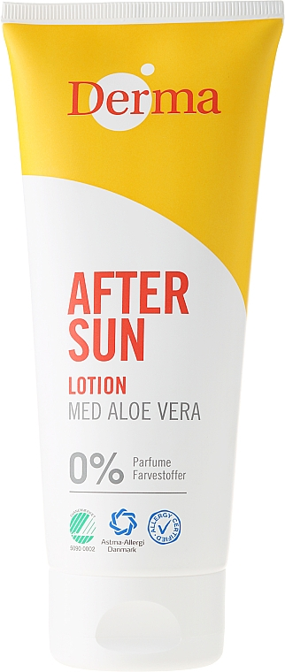After Tanning Lotion with Aloe Extract - Derma After Sun Lotion Med Aloe Vera