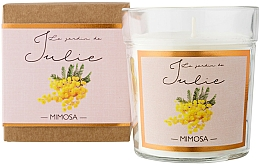 Fragrances, Perfumes, Cosmetics Mimosa Scented Candle - Ambientair Le Jardin de Julie Mimosa