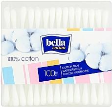 Fragrances, Perfumes, Cosmetics Rectangular Cotton Buds, 100 pcs - Bella