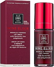 Fragrances, Perfumes, Cosmetics Lifting Anti-Wrinkle Serum with Santorini Vine Polyphenols - Apivita Wine Elixir Wrinkle And Firmness Lift Serum