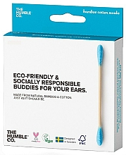Fragrances, Perfumes, Cosmetics Bamboo Cotton Swabs - The Humble Co. Cotton Swabs Blue