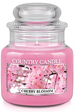 Fragrances, Perfumes, Cosmetics Cherry Blossom Scented Candl (jar) - Country Candle Cherry Blossom