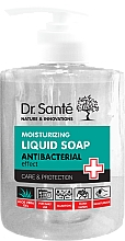 Fragrances, Perfumes, Cosmetics Liquid Moisturizing Antibacterial Aloe Vera Soap, with dispenser - Dr. Sante Antibacterial Moisturizing Liquid Soap
