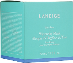 Fragrances, Perfumes, Cosmetics Mineral Clay Mask with Mint Water - Laneige Mini Pore Waterclay Mask