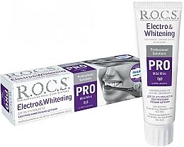 Fragrances, Perfumes, Cosmetics Electro & Whitening Toothpaste - R.O.C.S. Pro Electro & Whitening Mild Mint