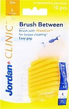 Fragrances, Perfumes, Cosmetics Interdental Brush L 0.7 mm, 10pcs, yellow - Jordan Brush Between